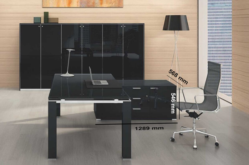 Size (storage Unit) Jet Evo Desk With Reduced Leg