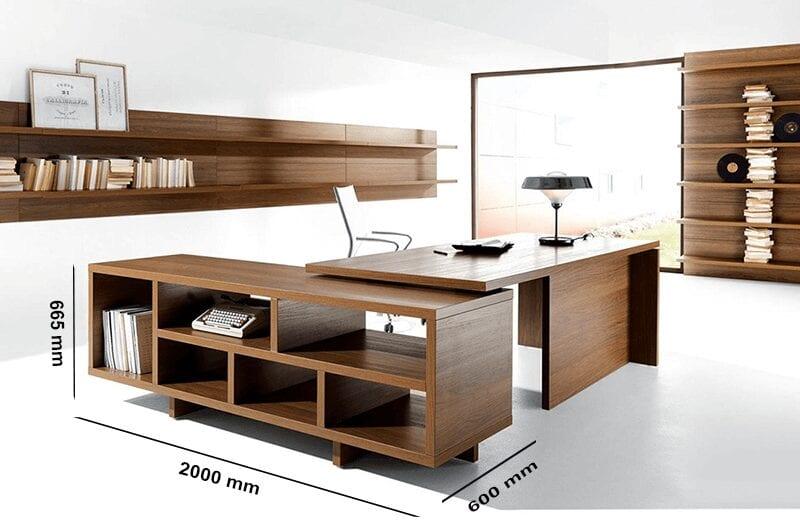 Grandioso 1 - Grand Executive Desk and Optional Credenza Unit