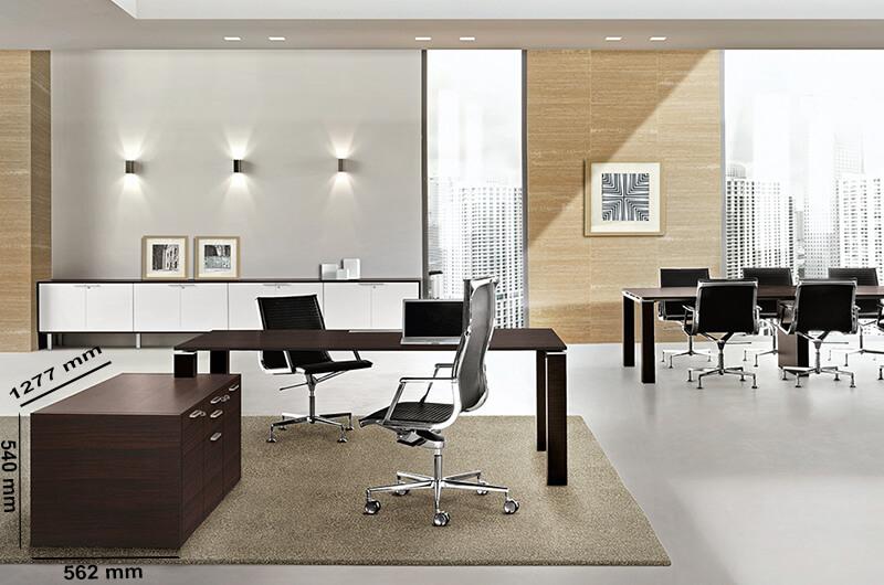 Size (storage Unit) Rectangular Office Desk With Reduced Leg