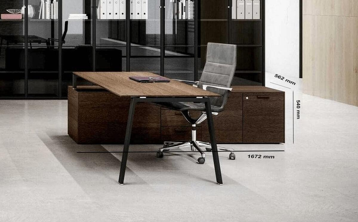 Size Credenza Minimo 1 Desk