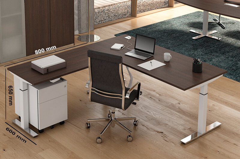 Size (extension) Winglet Electric Height Adjustable Desk