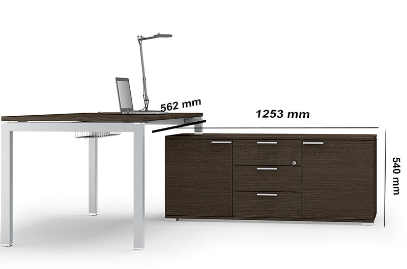 Size (storage Unit)gate Desk With Shortened Leg For Hooking To The Storage Unit