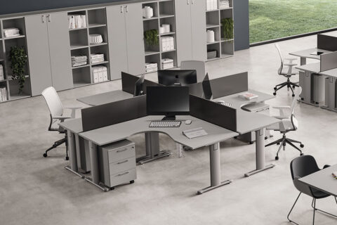 T Square Corner Operator Office Desk