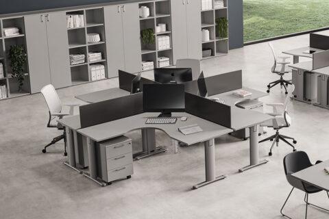 T Square Corner Operator Office Desk