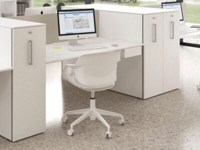 Simona 2 - Minimalist Office Task Desk for 2, 4 and 6 people and optional Vertical Storage