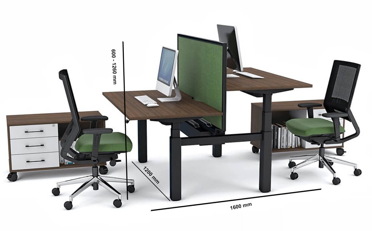 Tora Double Sided 2 Person Height Adjustable Bench Dimension