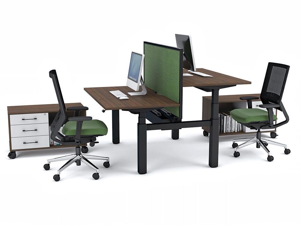 Tamara - Height Adjustable Back to Back Bench Desk