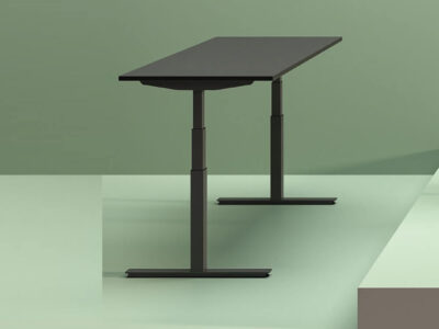 Vigente – Height Adjustable At Fixed Positions Desk With Optional Return2
