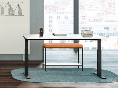 Vigente – Height Adjustable At Fixed Positions Desk With Optional Return3