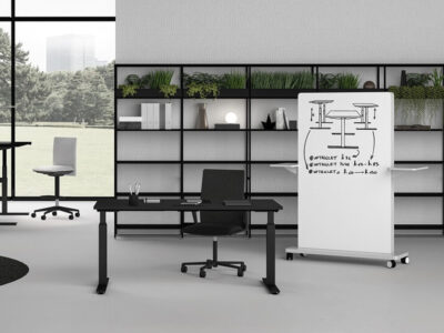 Vigente – Height Adjustable At Fixed Positions Desk With Optional Return4