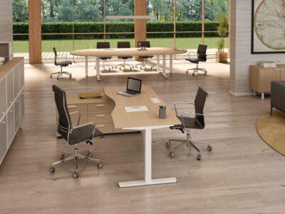 Forma - Ergonomic Executive Desk with Optional Credenza Unit