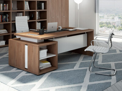 Brera Desk With Supporting Pedestal