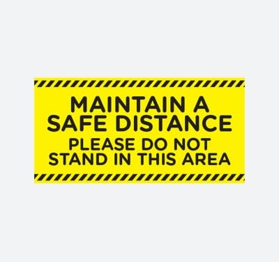Maintain a safe distance please do not stand in this areqa