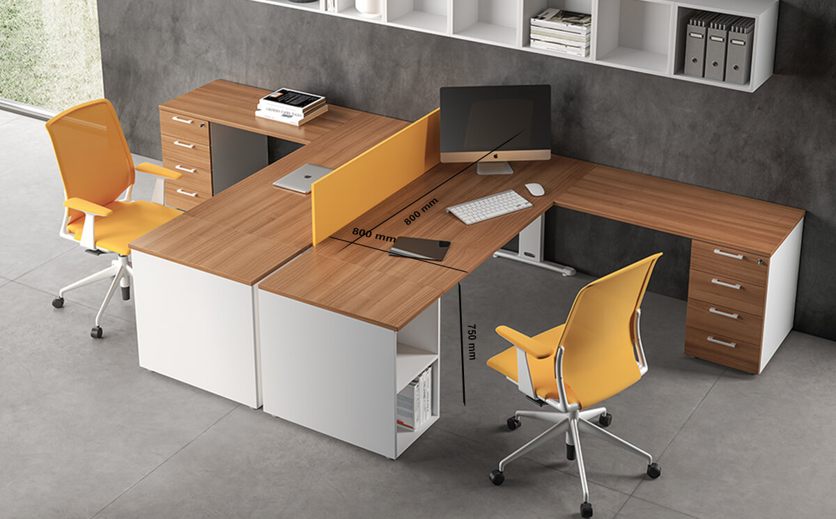 Size Matteo – T Leg Office Desk With Optional Shelf For Storage