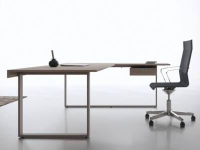 Ernesto – Executive Desk With Leather Inlay