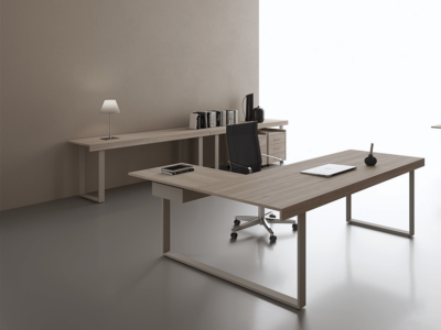 Ernesto – Executive Desk With Leather Inlay1