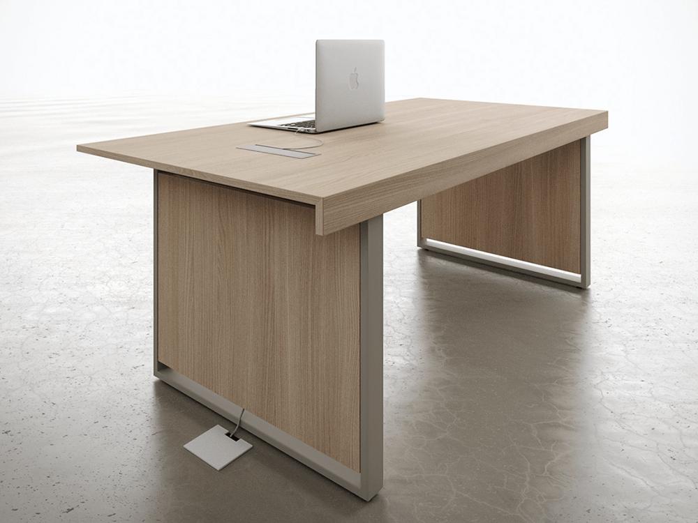 Ernesto 1 Panel Legs Small Meeting Table Mainimg