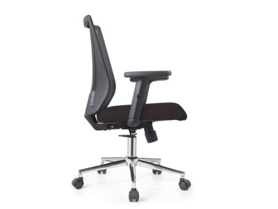 Low Back Grey Mesh Operators Revolving Chair 1