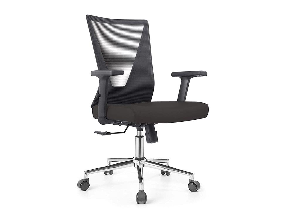 Low Back Grey Mesh Operators Revolving Chair Mainimg