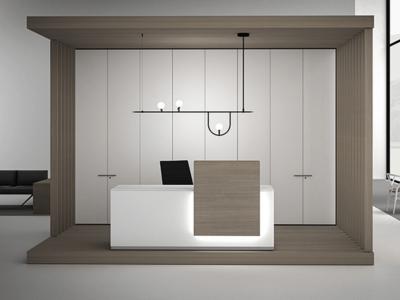 Luxor – Elegant Reception Desk With Overhang 1