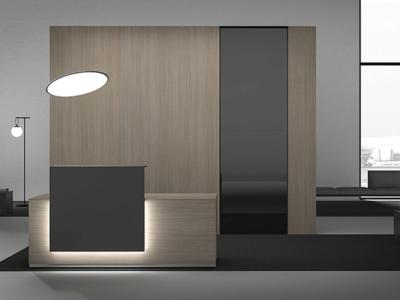 Luxor – Elegant Reception Desk With Overhang 2