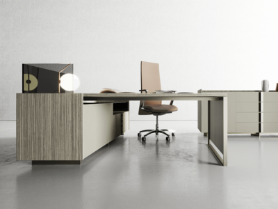 Magenta Operational Desk With Drawer Unit 1