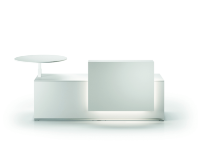 Reception Lux Straight Complet Counter With Linear Shelf Mainimg