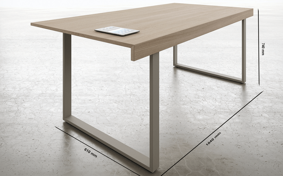 Size Ernesto 2 Console Meeting Table