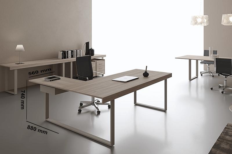 Size (extension) Essence Executive Desk
