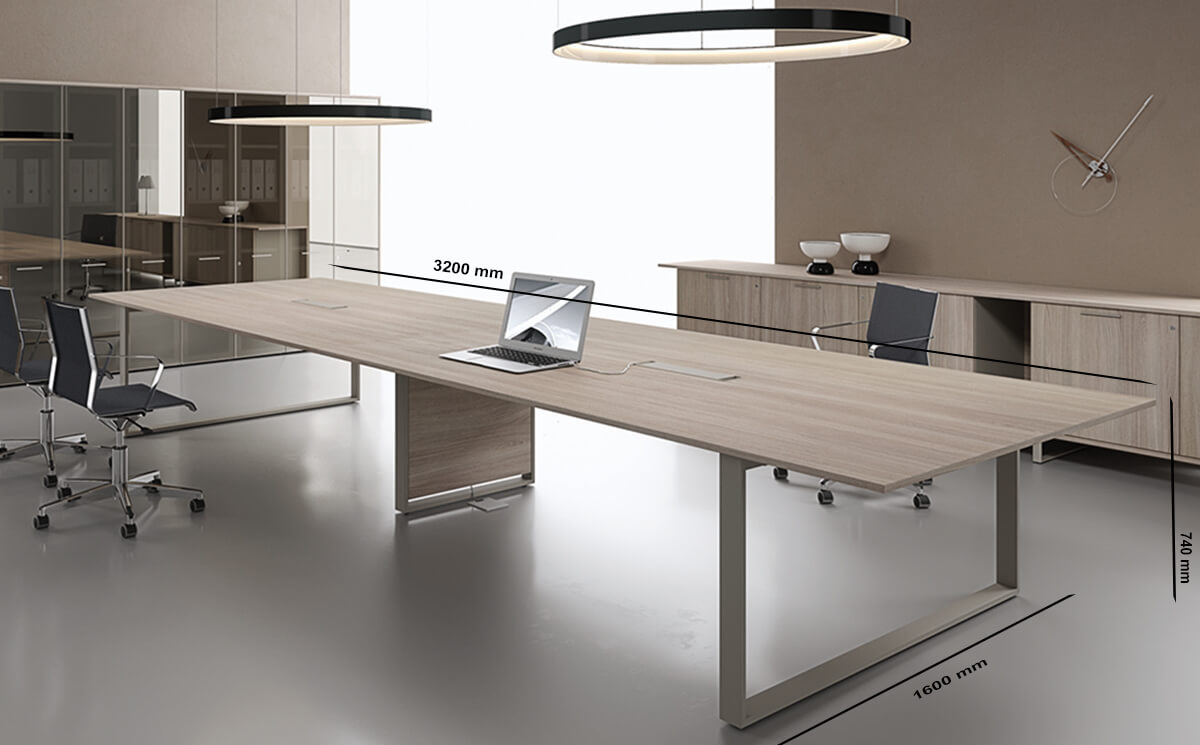 Size Ernesto – Large Meeting Table
