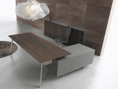 Bordo – Designer Concrete, Wood Or Fenix Laminated Finish Executive Desk10