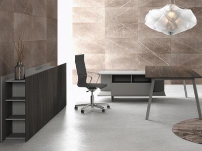 Bordo – Designer Concrete, Wood Or Fenix Laminated Finish Executive Desk9