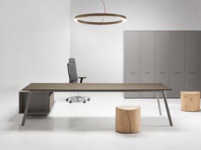 Bordo - Designer Concrete, Wood or Fenix Laminated Finish Executive Desk