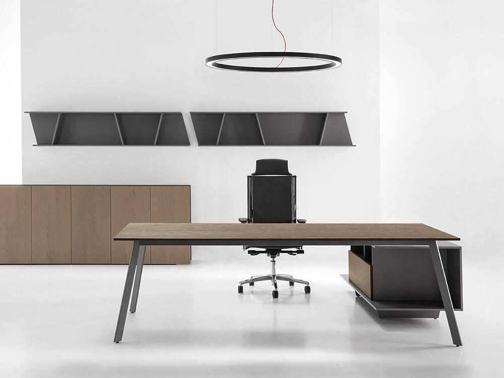 Bordo – Designer Concrete, Wood Or Lacquer Finish Executive Desk1