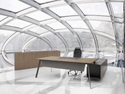Bordo – Designer Concrete, Wood Or Lacquer Finish Executive Desk4