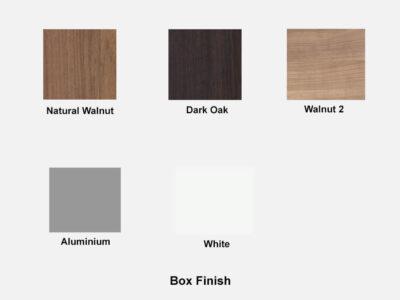 Box Finish Moda – Curved Gloss Executive Desk