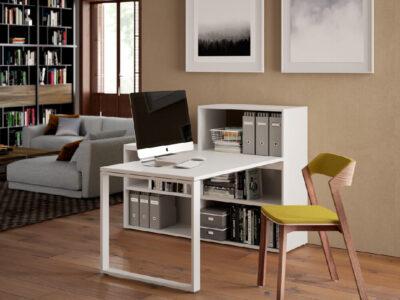 Fresca – Modern Home Office Desk With 5 Shelf Storage