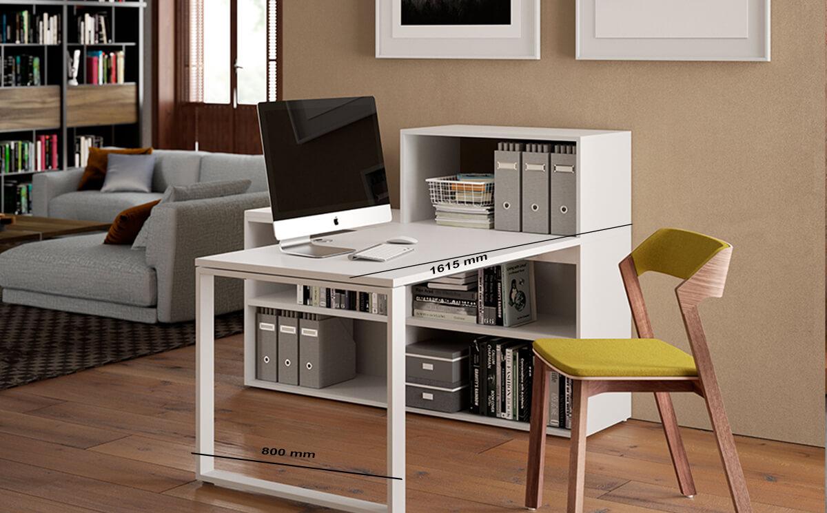 Size Fresca – Modern Home Office Desk With 5 Shelf Storage