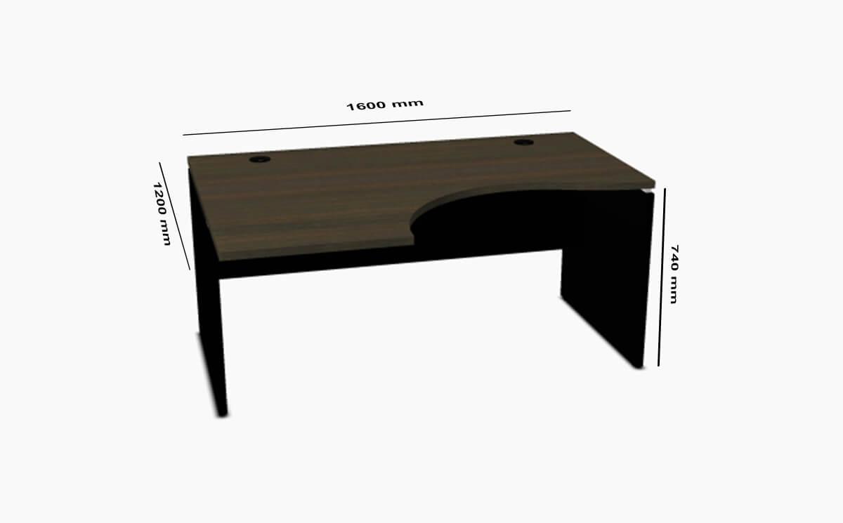 Vic Corner Desk Dimension Sizes