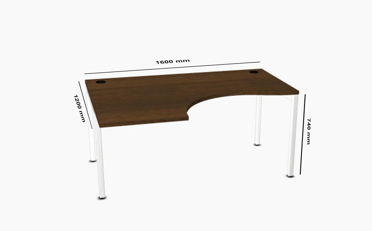 Caro Corner Desk Dimension Sizes