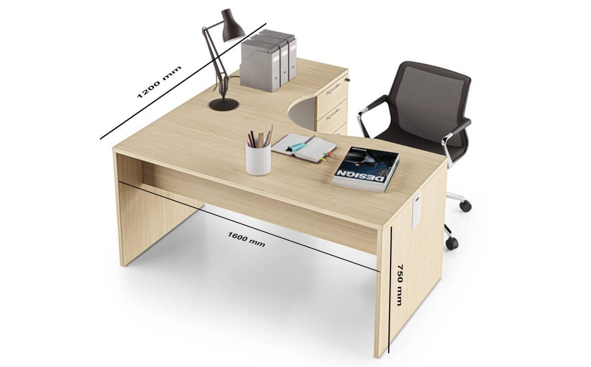 Monte Corner Dimension Desk Sizes