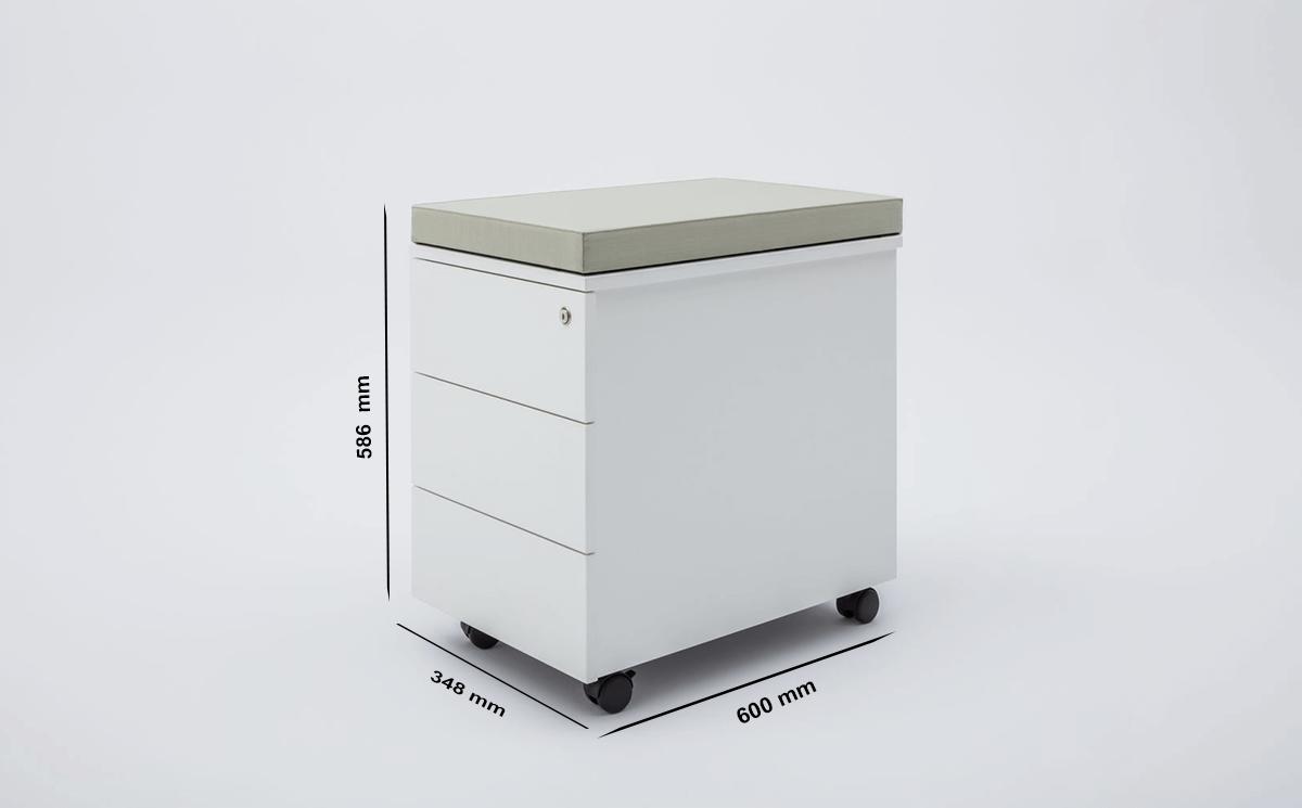 Donna Under Desk Pedestal Storage Size