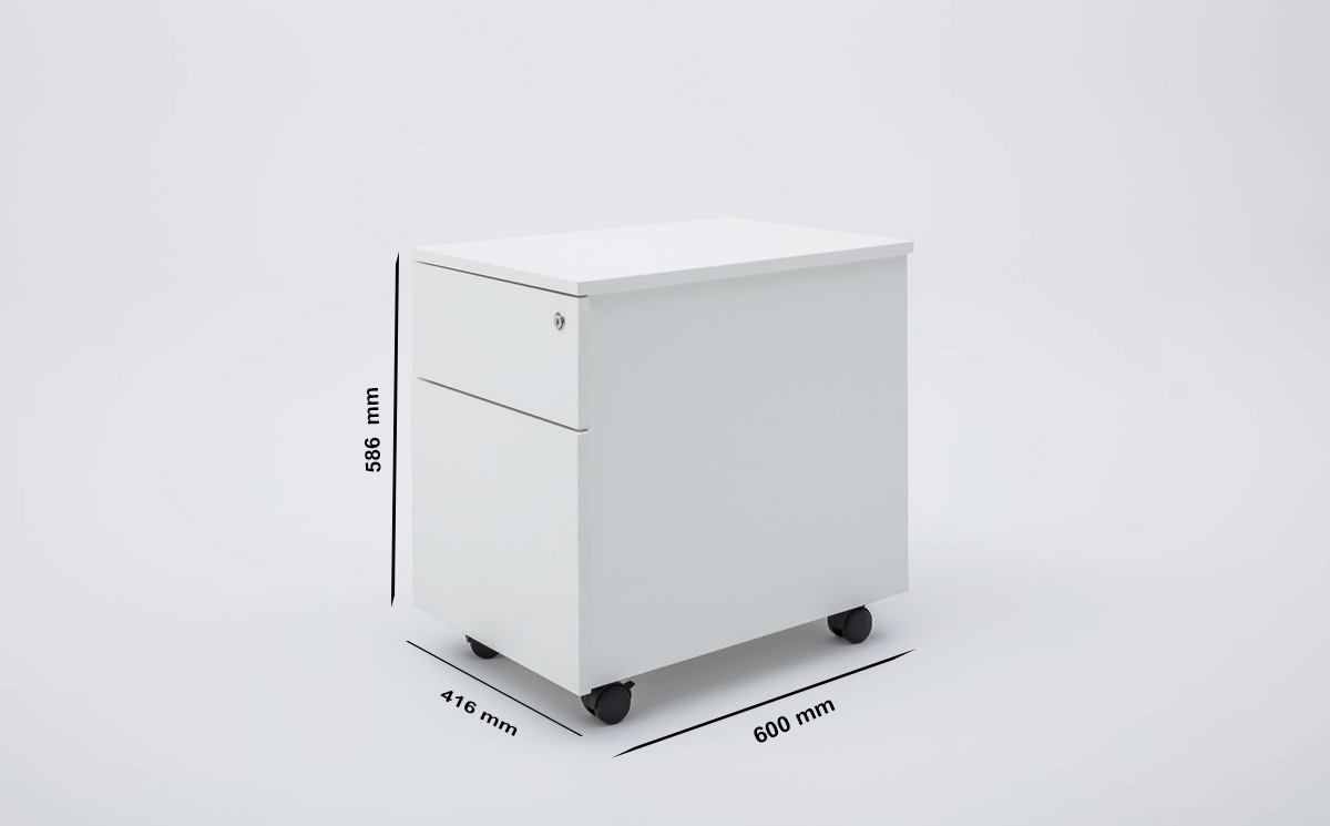 Jemma Under Desk Metal Pedestal Storage Size