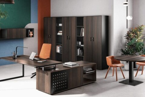 Pantiya Ring Leg Wooden Executive Desk Main Image