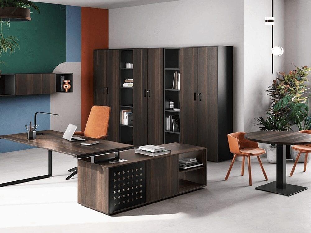 Pantiya Ring Leg Wooden Executive Desk Main Image