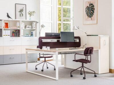 Bella 1 – Office Desk With Ring Leg (1)