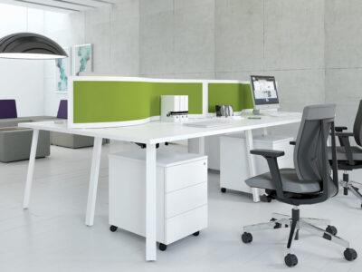 Mocko 1– Office Desk Range With White Leg2