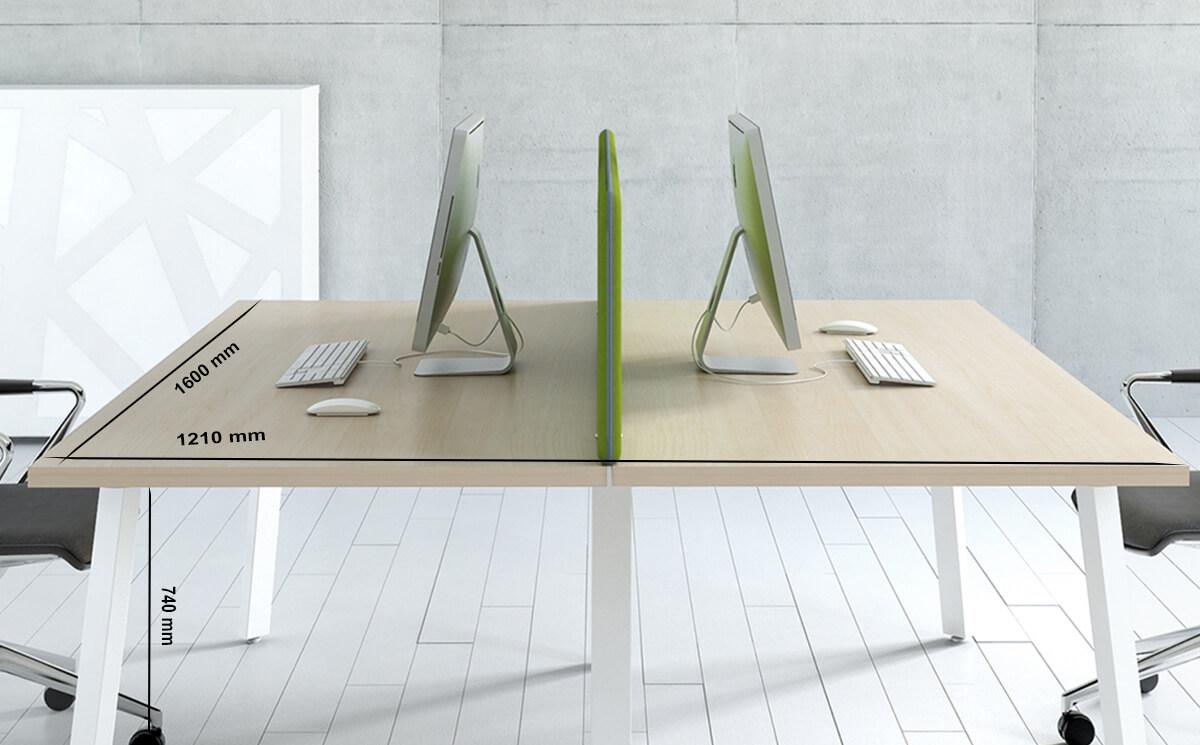 Size Mocko 1 – Office Desk Range With White Leg