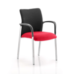 Academy Visitor Chair In Multicolor With Arms Bergamot Cherry