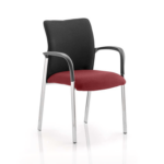 Academy Visitor Chair In Multicolor With Arms Ginseng Chilli